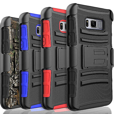 $ CDN11.19 • Buy For Samsung Galaxy S8 /S8 Plus Case,With Belt Kickstand+Tempered Glass Protector