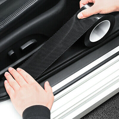 AU10.53 • Buy 3M Accessories Carbon Fiber Car Door Plate Sill Scuff Cover Anti Scratch Sticker