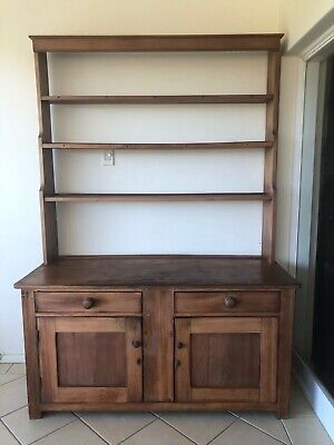 AU202.50 • Buy Antique Large Kitchen Dresser.Huon Pine? Cedar? Colonial Guess Over 100years Old