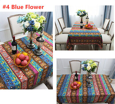 AU13.04 • Buy Boho Style Dining Table Cloth Rectangular Tablecloths Cover Kitchen Decoration