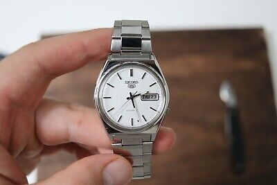 $ CDN150 • Buy NOS - VINTAGE Seiko 5 AUTOMATIC 7009-3140 Mens 37mm Steel Watch 1991