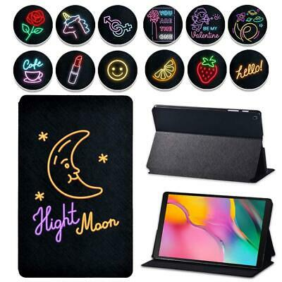 AU13.50 • Buy Neon Leather Tablet Cover Case For Samsung Galaxy Tab A A6 7  10 /Tab E S5E