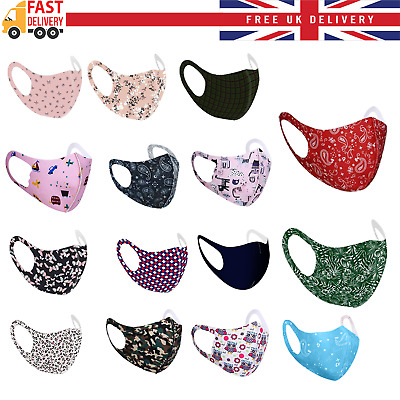 $ CDN21.97 • Buy Children Kids Adults Face Mask Mouth Protection Cover Washable Reusable Unisex