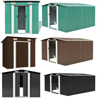 Metal Garden Shed House Storage Organiser Utility Tool Store Container Shelter • 643.12£