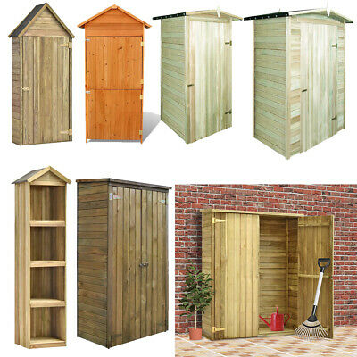 Wooden Garden Tool Shed Cabinet Cupboard Lawn Mower Storage Bike Shelter Locker • 147.24£