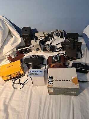 Joblot Of Vintage Old Camera Polaroid Kodak Chinon Tammy Instamatic Untested • 90£