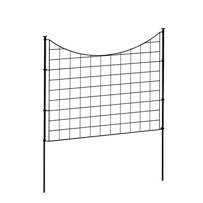 £70.76 • Buy Garden Fence Panel W Stakes Zippity Durable Metal Black 5 Pack 2.08 Ft X 2.46 Ft
