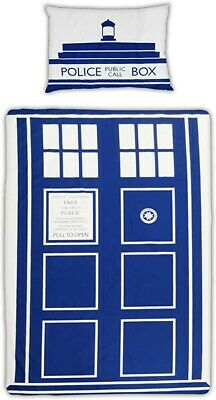 Doctor Who Dr TARDIS Single Duvet Cover Pillowcase Bed Set Quilt Official Used • 3.20£