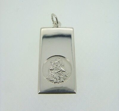 Sterling Silver Large St Christopher Ingot Pendant 4.75g • 16.49£