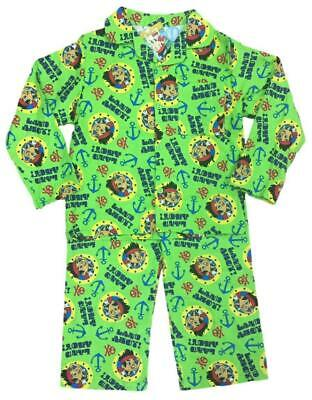 BOYS OFFICIAL JAKE AND THE PIRATES FLANNEL WINCEYETTE PYJAMAS AGES 12-18 To 3-4  • 3.99£