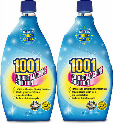 2x 1001 Carpet Machine Shampoo 500ml 3in1 Professional Clean  • 6.90£