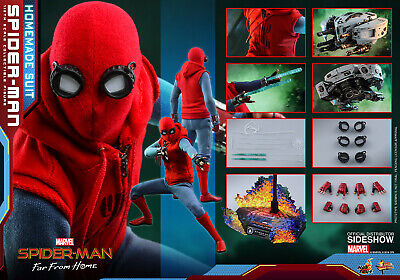 $ CDN427.21 • Buy Hot Toys 1/6 Spider-Man: Far From Home Spiderman Homemade Suit Sixth Scale MMS55