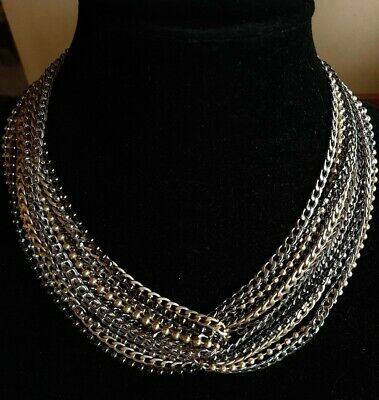 $ CDN26.35 • Buy Lia Sophia Multi Tone Strands Chains Necklace Nwot