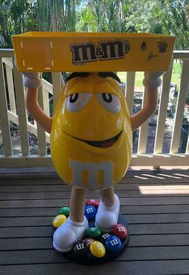 AU425 • Buy Large Rare Collectable M&M Big Yellow With Top Tray 113cm Tall Figurine By Mars