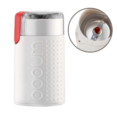 AU39.95 • Buy Bodum Bistro Electric Coffee Grinder Durable Stainless Steel Plastic Off White