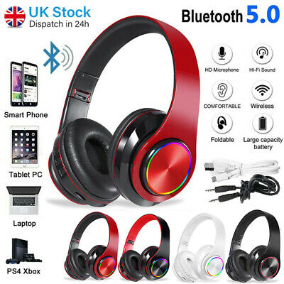£12.99 • Buy Wireless Bluetooth Headphones With Noise Cancelling Over Ear Stereo Earphones UK