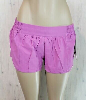 $ CDN98 • Buy Lululemon Hotty Hot LR Short 2.5 Lined Size 12 Magenta Glow Pink 4 Way