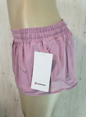 $ CDN89 • Buy Lululemon Hotty Hot LR Short 2.5 Lined Size 12 Pink Taupe 4 Way  Reflective