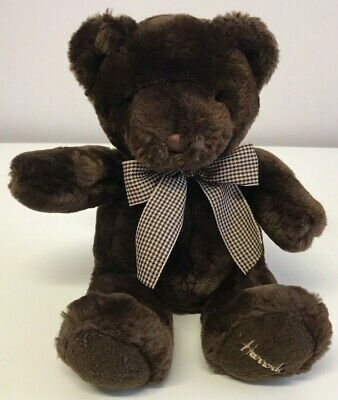 Harrods Brown Teddy Bear Plush Soft Toy Bow Tie Cute 12  • 19.99£