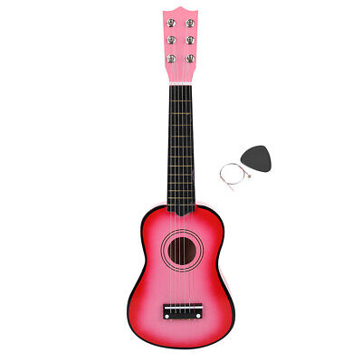 21inch Children Guitar Musical Instrument Children Educational Toy Gift Pink • 15.55£