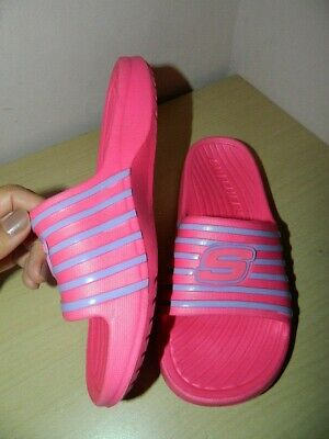 Skechers Hot Pink Slip On Sandals Slippers Slide Uk 3 Eur 36 * VGC • 8£