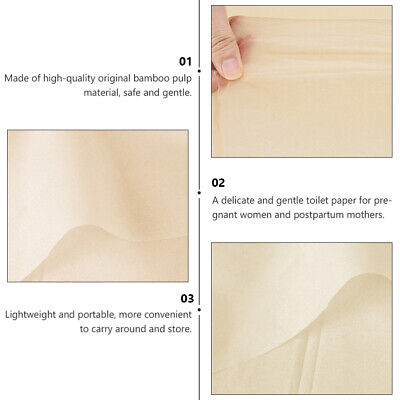 AU18.69 • Buy 1 Box 4Pcs Toilet Paper Chic Bamboo Safe Pregnant Woman Gift Cleaning Tool Towel