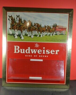 $ CDN119.99 • Buy Litho Budweiser King Beer Clydesdale Horses TOC Store Display Sign Jems Stamping