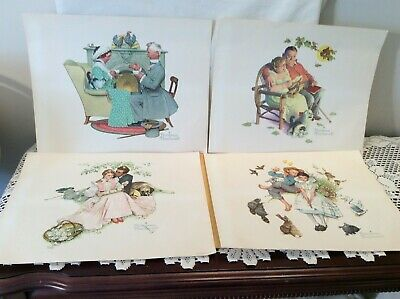 $ CDN13.33 • Buy Vintage Set Of 4  . NORMAN ROCKWELL  Prints 11  X 14