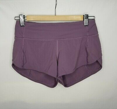 $ CDN55 • Buy Lululemon Athletica Womens Lined Speed Shorts Size 2 XXS Mauve Colored
