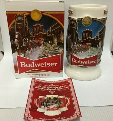 $ CDN37.56 • Buy 2020 Budweiser Holiday Stein Beer Mug From Annual Christmas Series BRAND NEW!!