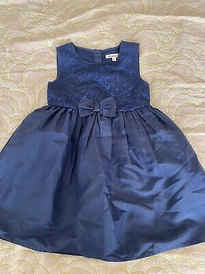 Blue Zoo Lined Navy Blue Party Dress Age 2 - 3.. Worn Once. • 2.99£