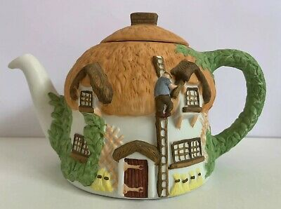 Christopher Wren Cottage Teapot  Staffordshire Tableware England BOXED • 9.95£