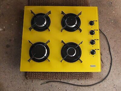 BAUMATIC YELLOW 4 BURNER GAS HOB 58CM X 51CM • 20£