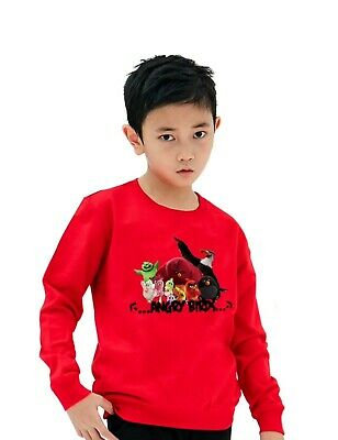 £9.99 • Buy Top Quality Angry Birds Red Jumper Cotton Boys Girls Kids Top Hoodie Suit 3-10yr