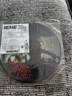 "GREEN DAY Wake Me Up When September Ends 7"" Picture Disc Vinyl • 10£"