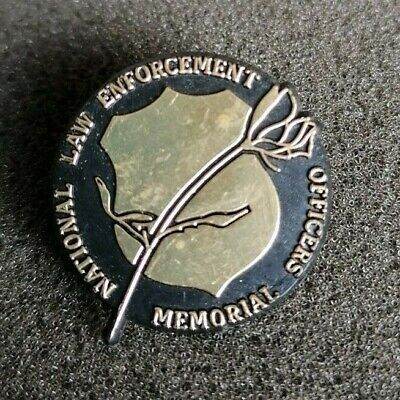 American Plastic Pin Badge USA Police National Law Enforcement Officer Memorial • 3.99£