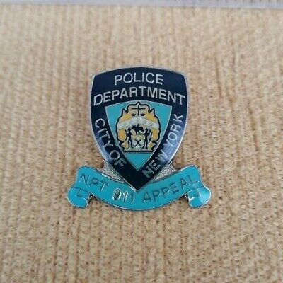 American Enamel Pin Badge USA Police Department City Of New York NPT 911 Appeal • 8.99£