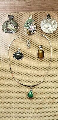 $ CDN32.96 • Buy Lia Sophia Pendant Lot Collar Necklace 7 & Origami Owl Lot Necklace 6 Charms