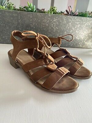 BNWT New Look Tan Brown Heeled Gladiator Style Sandals - Size 5 / EU 38 • 1£