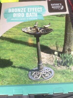 Natures Market Bronze Effect Bird Bath Brand New In Box  • 8.70£