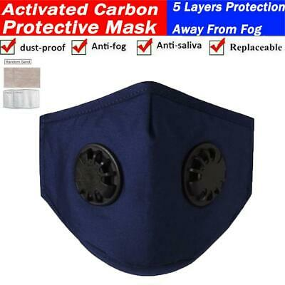 $ CDN11.35 • Buy Reusable Washable Cloth Face Mask W/ Air Valve + FREE 2 PM2.5 Carbon Filters
