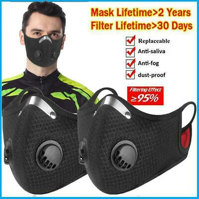 $ CDN21.69 • Buy 2pcs Sport/Outdoor Mask With 2 Breathing Valves & Extra Filters - Reusable