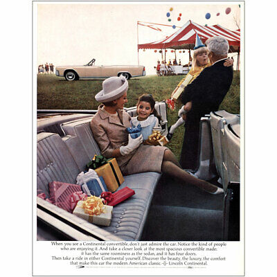 $7.50 • Buy 1964 Lincoln Continental Convertible: Admire The Car Vintage Print Ad