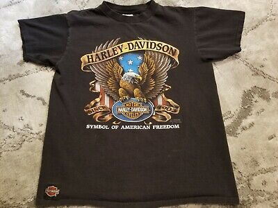 $ CDN139.42 • Buy Vintage Harley Davidson 3D Emblem T Shirt Ouray Colorado