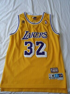 AU23.50 • Buy Adidas Hardwood Classics Magic Johnson LA Lakers NBA Jersey Size Medium