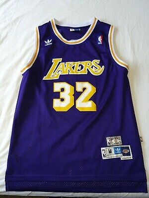 AU24.50 • Buy Men's Adidas Hardwood Classics Magic Johnson LA Lakers NBA Jersey Size Medium