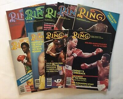$27.99 • Buy THE RING Magazine 9 Issue Lot January 1985 - October '85 Hearns, Hagler Holmes
