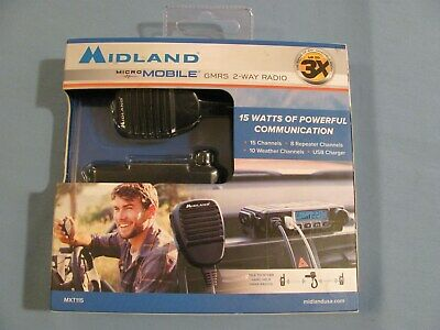 $ CDN152.25 • Buy Midland Micro Mobile GMRS 2-Way Radio MXT115 Brand New Sealed **********