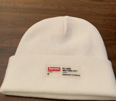 $ CDN103.90 • Buy Supreme Clear Label Beanie WHITE OS Brand New (IN HAND) FW20 WEEK 4 AUTHENTIC