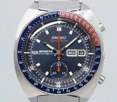 $ CDN4424.48 • Buy SEIKO 5 Sports Speed Timer 6139-6005 Automatic Winding Vintage Watch 1969's